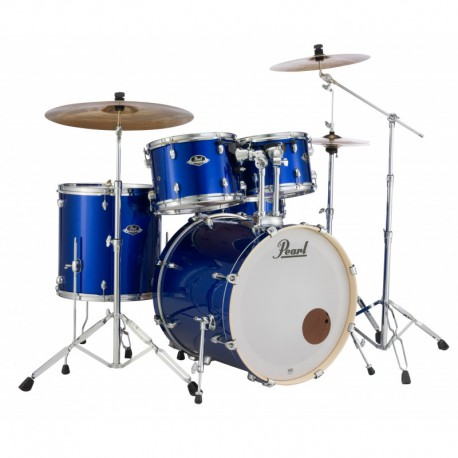 Pearl Drum Set w/Stands & S-Cymbals EXX725SBR/C Blue Pearl