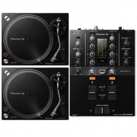 PIONEER PLX-500 Pack Black (2x PLX-500K + 1x DJM-250MK2)
