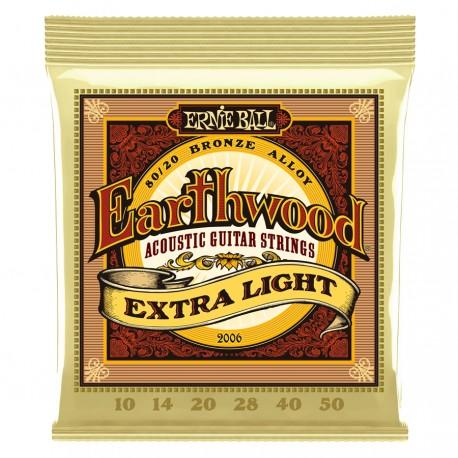 ERNIE BALL 2006 Earthwood 80/20 Bronze Extra Light 10-50 Ernie Ball