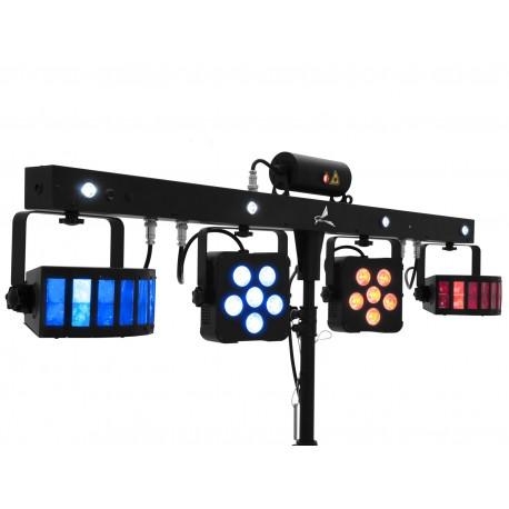 EUROLITE Set LED KLS Laser Bar PRO FX Light Set + M-4 Speaker-System Stand Eurolite