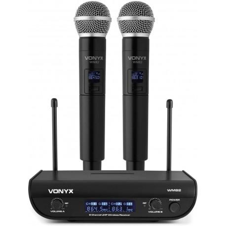 VONIX WM82 Double Handheld Vonyx