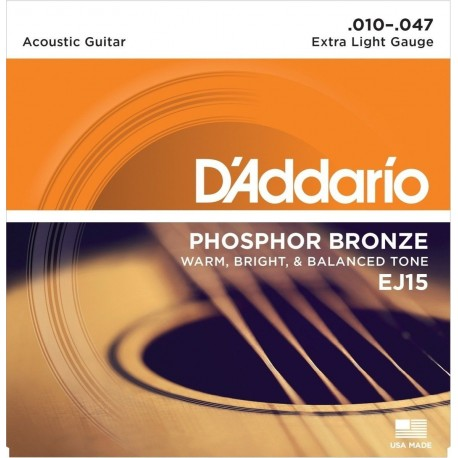 D'ADDARIO Phosphor Bronze EJ15 D'Addario